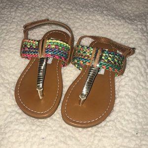 Steve Madden multi-colored sandal